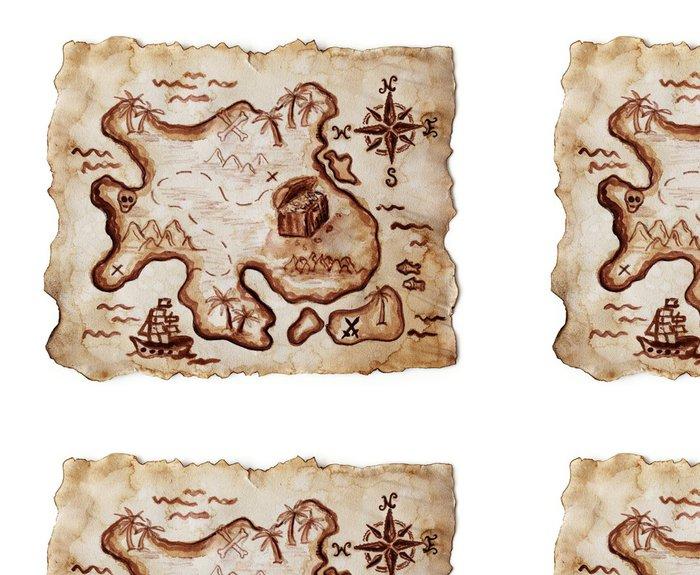 Vinylová Tapeta Staré mapu pokladu na bílém pozadí - Témata