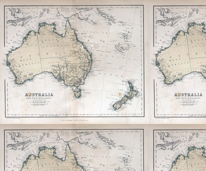 Tapeta Pixerstick Staré mapy Austrálie - Témata