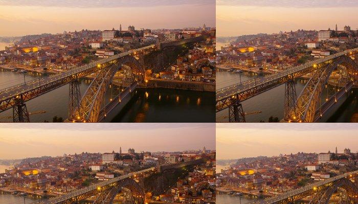 Vinylová Tapeta Staré město Porto na západ slunce, Portugalsko - Evropa