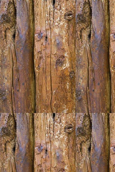 Tapeta Pixerstick Staré nosníky s prasklinami a hmyzu řezbářské práce - Struktury
