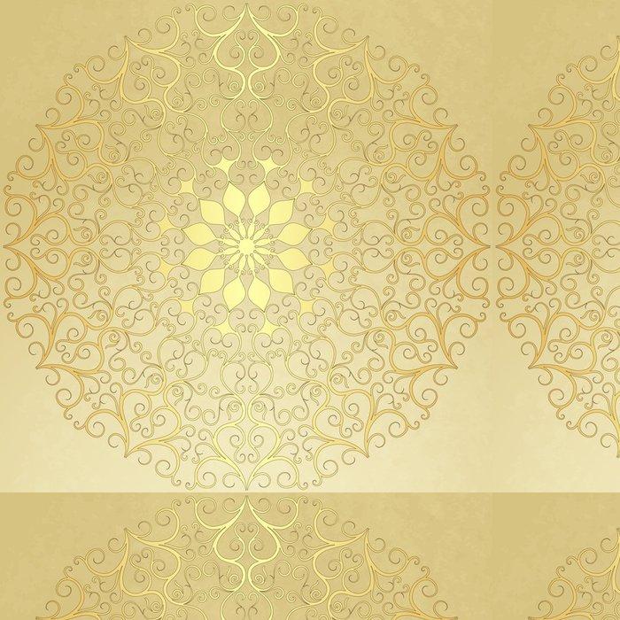 Tapeta Pixerstick Staré ročník papír se zlatým kulatým vzorem - Pozadí