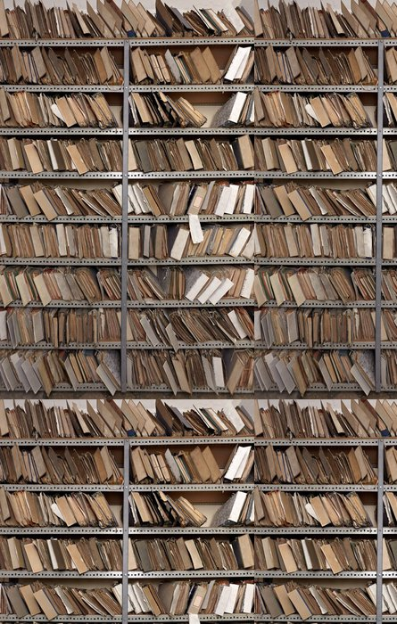 Vinylová Tapeta Staré vintage dokumenty souborů v úschovně - Veřejné budovy