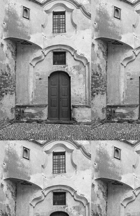 Tapeta Pixerstick Starobylý kostel detail B - Čas