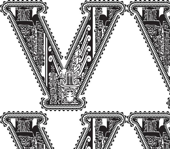 Tapeta Pixerstick Starověké písmeno V. vektorové ilustrace - Amerika