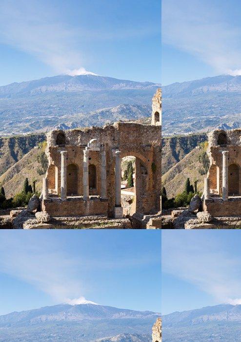 Tapeta Pixerstick Starověké řecké římské divadlo v Taormina - Sicílie - Evropa