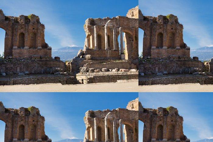 Vinylová Tapeta Starověké řecké římské divadlo v Taormina - Sicílie - Evropa