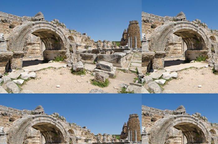Tapeta Pixerstick Starověké rozvaliny Perge Turecko - Evropa