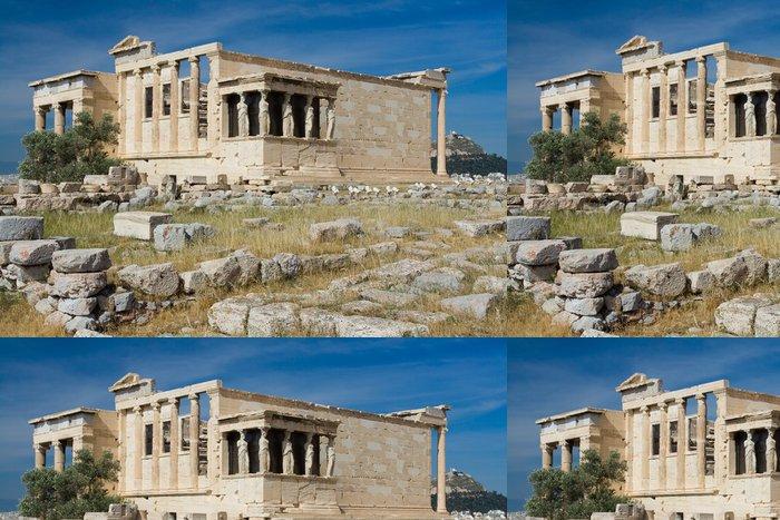 Tapeta Pixerstick Starověký chrám Erechtheion v Aténách v Řecku akropole na modré sk - Evropská města