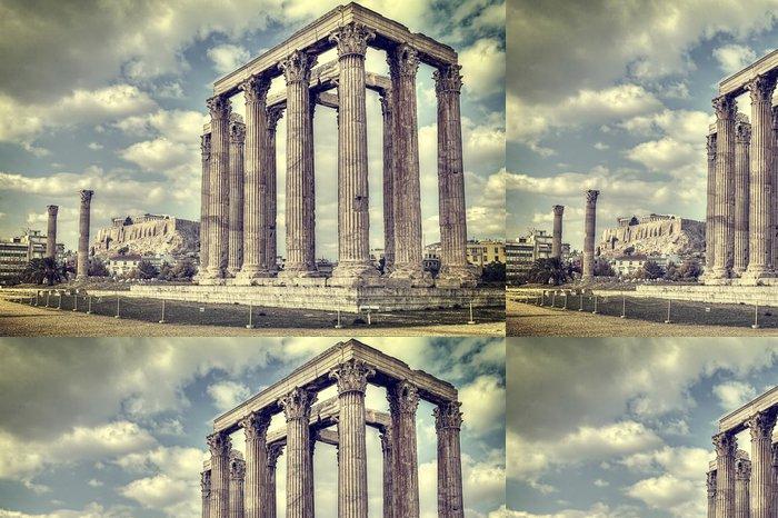 Tapeta Pixerstick Starověký chrám olympionika Zeus, Athens, Řecko - Témata