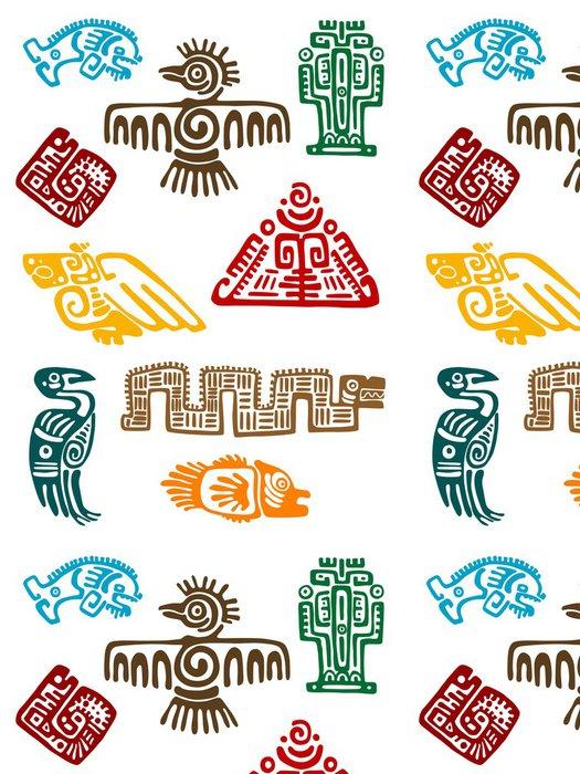 Tapeta Pixerstick Starověký Maya monstra - Značky a symboly