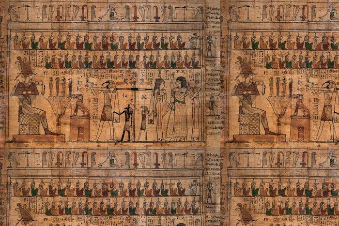 Tapeta Pixerstick Starožitné hieroglyfy na egyptské papyrus - Umění a tvorba
