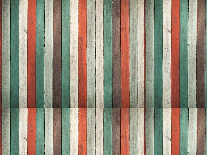 Tapeta Pixerstick Starý barevný nátěr na dřevo wal - Témata