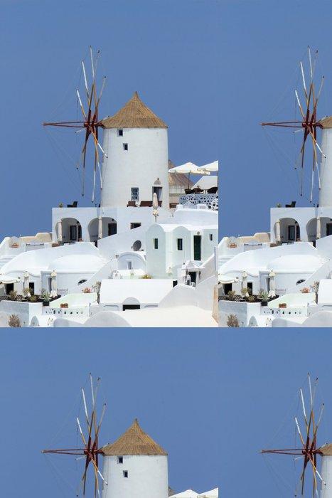 Tapeta Pixerstick Starý větrný mlýn v Oia, Santorini, Řecko - Evropa