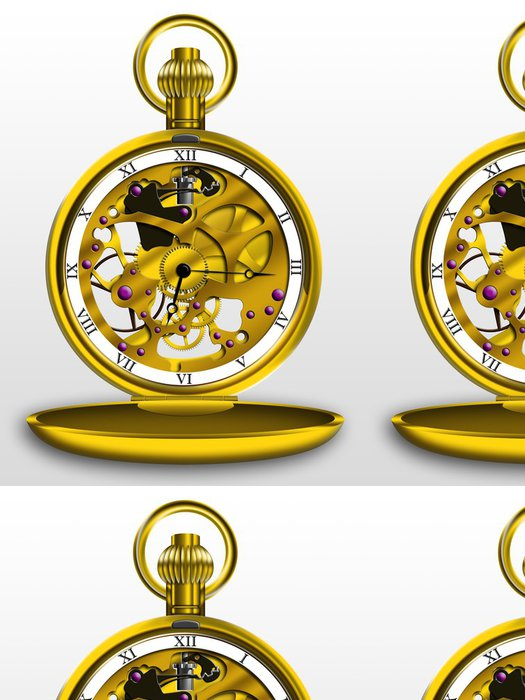 Tapeta Pixerstick Steampunk kapesní hodinky - Steampunk