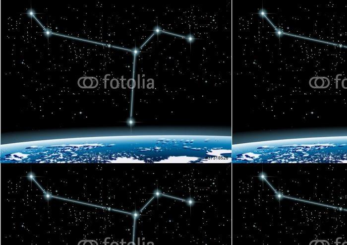 Vinylová Tapeta Sternbild Taube - Meziplanetární prostor