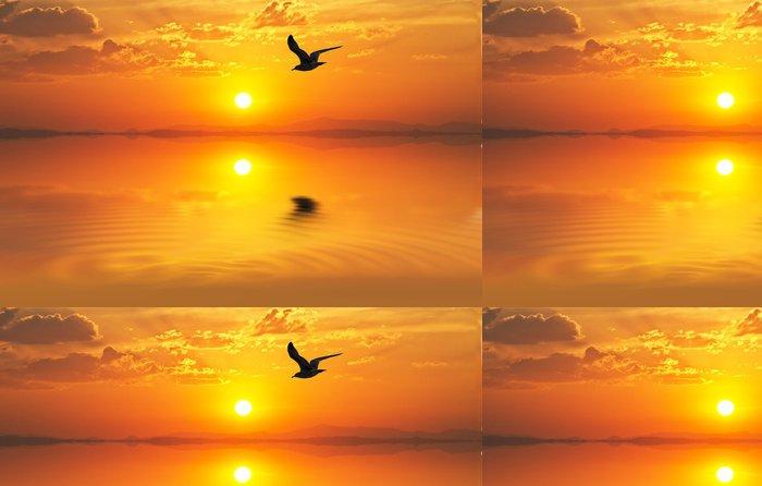 Tapeta Pixerstick Štít při západu slunce - Prázdniny