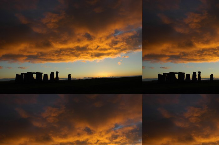Tapeta Pixerstick Stonehenge západ slunce - Evropa