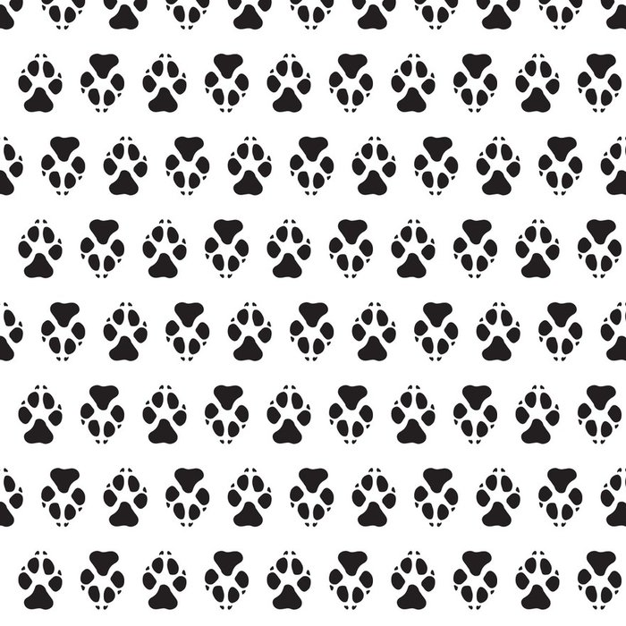 Tapeta Pixerstick Stopy psů bezešvé vektoru vzor. - Ekologie