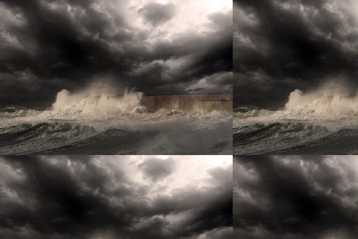 Tapeta Pixerstick Storm oko - Voda