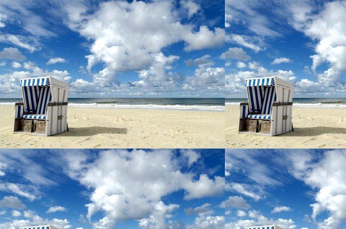 Tapeta Pixerstick Strandkorb auf Sylt - Prázdniny