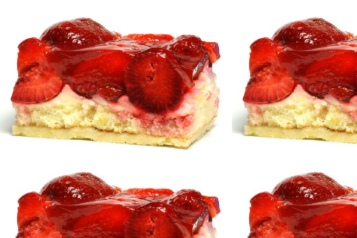 Vinylová Tapeta Strawberry Cake - Sladkosti a dezerty