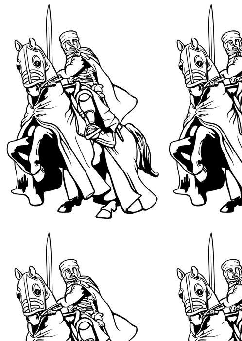 Tapeta Pixerstick Středověký rytíř - Rytíři