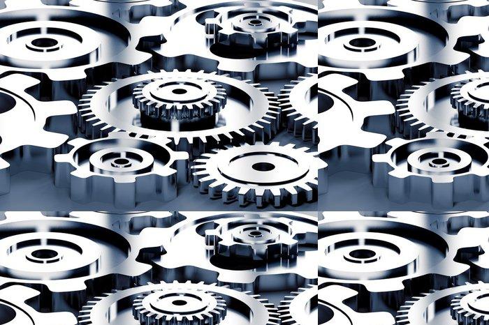 Vinylová Tapeta Stroje na ozubení a koncepce titan - Styly