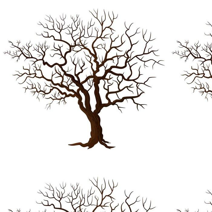 Tapeta Pixerstick Strom bez listí izolovaných na bílém - Roční období