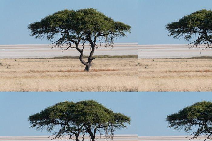 Tapeta Pixerstick Strom na Etosha Pan - Afrika