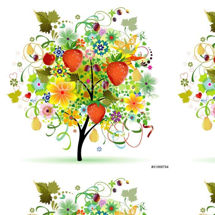 Tapeta Pixerstick Strom s ovocem - Nálepka na stěny