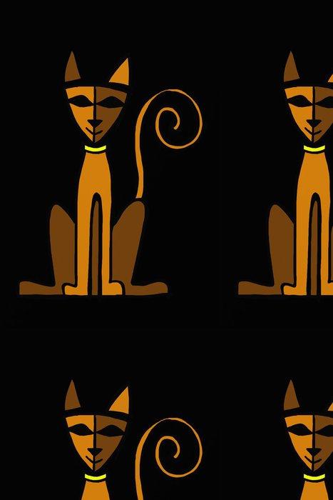 Tapeta Pixerstick Stylizované kočka - Umění a tvorba