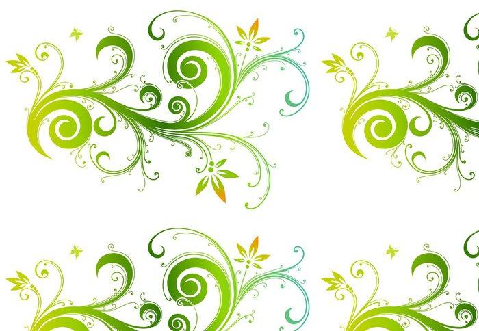 Tapeta Pixerstick Stylizované květiny - Květiny
