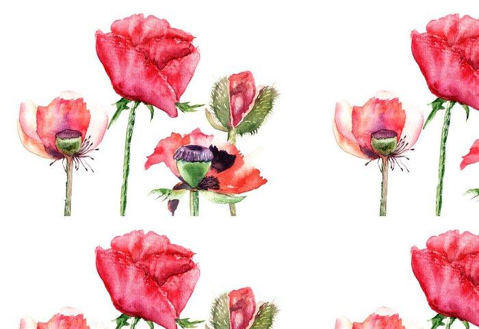 Vinylová Tapeta Stylizované Poppy květiny ilustrační - Styly