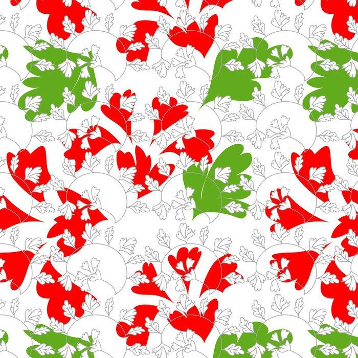 Tapeta Pixerstick Stylový barevné květinové bezešvé tapety - Pozadí