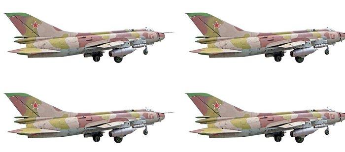 Tapeta Pixerstick Su-25 letadlo na bílém pozadí - Vzduch