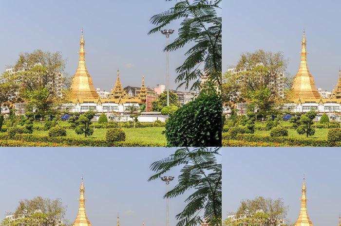 Tapeta Pixerstick Sule Pagoda v Rangúnu - Asie