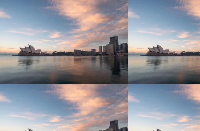 Tapeta Pixerstick Sunrise v Opera sněmovna mezník v Sydney, Austrálie - Témata