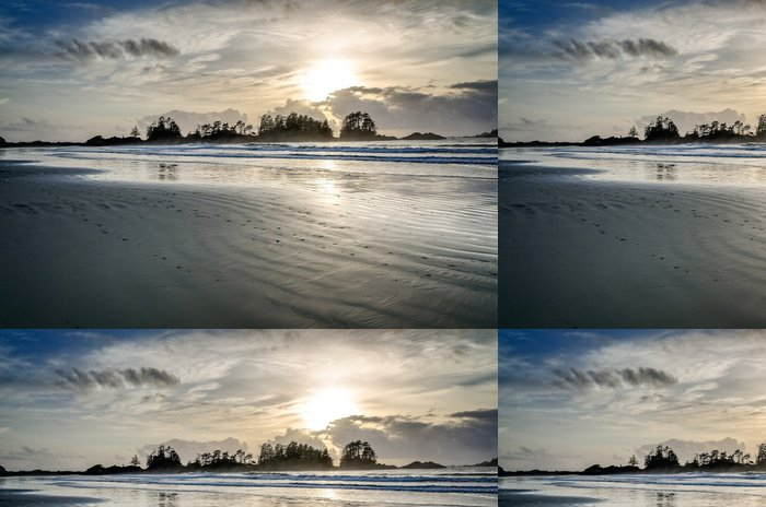 Tapeta Pixerstick Sunset, British Columbia, Tofino - Voda