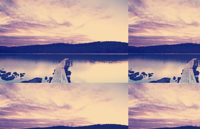Vinylová Tapeta Sunset Pier Instagram styl - Voda