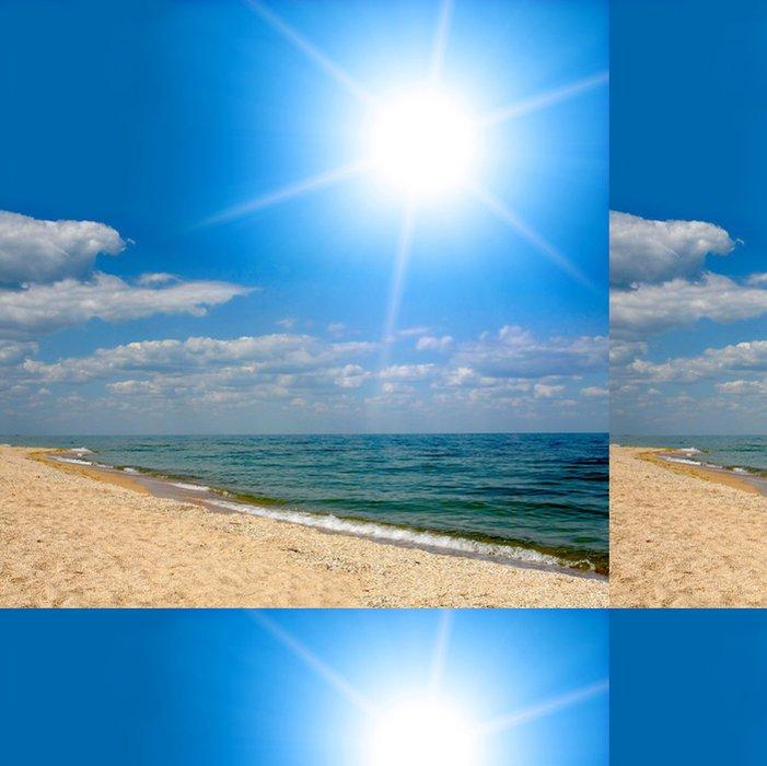Tapeta Pixerstick Sunshine nad mořem - Voda
