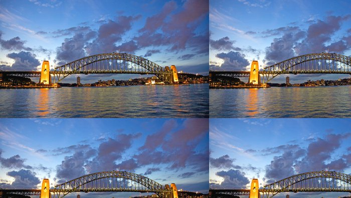 Tapeta Pixerstick Sunste v Sydney Harbour Bridge - Témata