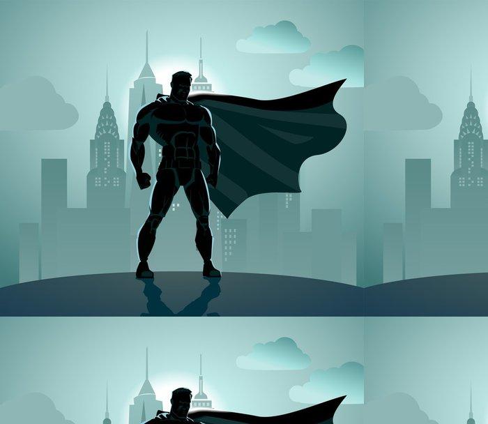 Vinylová Tapeta Superhero v City - Život