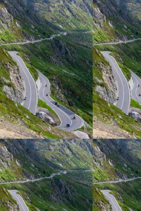 Vinylová Tapeta Susten průchod silnice, Švýcarsko - Evropa