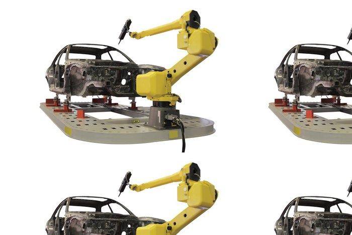Tapeta Pixerstick Svařovací robot - Těžký průmysl