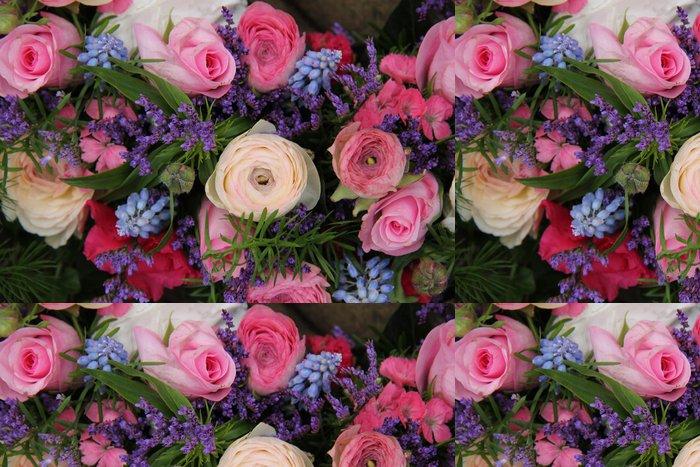 Tapeta Pixerstick Svatební aranžmá v modré a růžové - Slavnosti