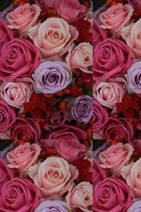 Tapeta Pixerstick Svatební růže v růžové a fialové - Slavnosti