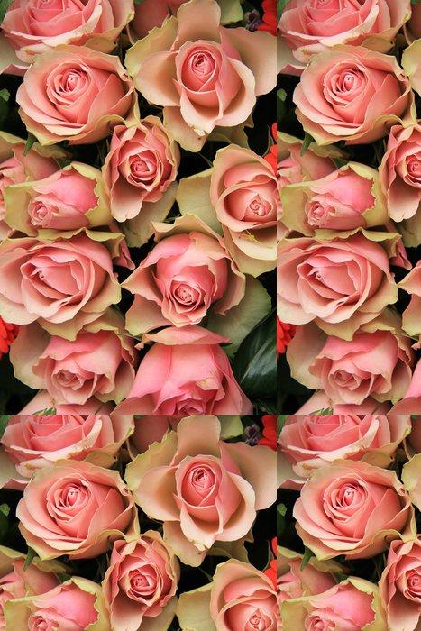 Tapeta Pixerstick Svatební uspořádání, růžové květy - Květiny