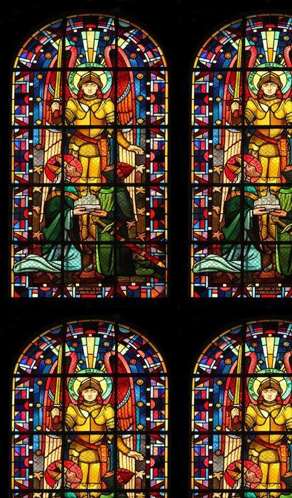 Vinylová Tapeta Svatý Michael kostel Notre Dame de Clignancourt, Paříž, Francie - Veřejné budovy