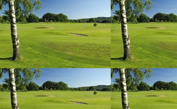 Tapeta Pixerstick Švédská golfové hřiště krajiny - Témata