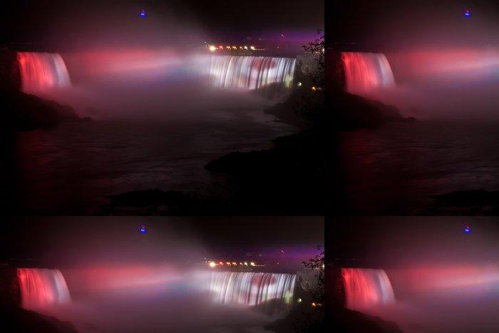 Tapeta Pixerstick Světelné Horseshoe Falls v noci - Amerika